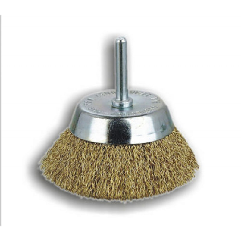 Spazzole a tazza con gambo in acciaio P6 T50 REF 650, Spazzole in acciaio, sit | Magnabosco Express - 00025256