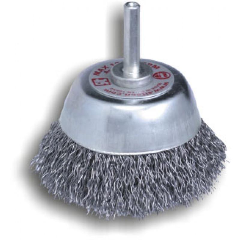 Spazzole a tazza con gambo in acciaio P6 T70 REF 655, Spazzole in acciaio, sit | Magnabosco Express - 00025270