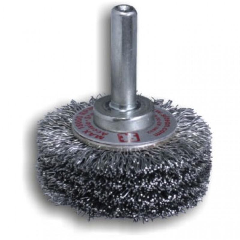 Spazzola circolare in INOX con gambo GG53 REF 968, Spazzole in acciaio, sit | Magnabosco Express - 00070645