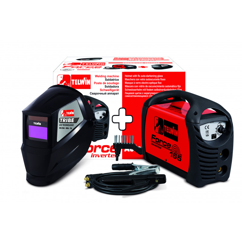 SALDATRICE INVERTER FORCE 165 230V ACX + MASCHERA., Best seller, telwin | Magnabosco Express - 00070744