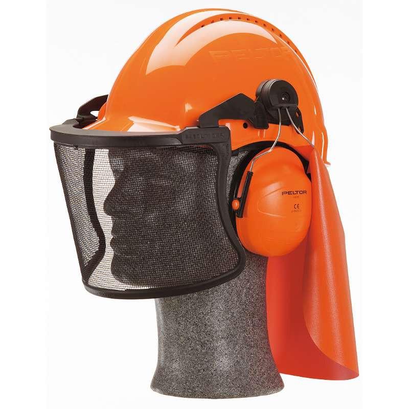 Combinazione elmetto + cuffie + Visiera 45301, Caschi da lavoro e cuffie antirumore, 3m | Magnabosco Express - 00076739