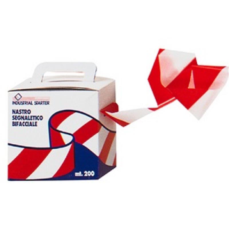 Nastro segnaletico bianco/rosso, Antifortunistica varia,  | Magnabosco Express - 00076968