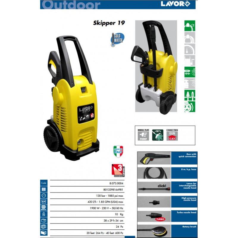 Idropulitrice ad acqua fredda pressione 130 bar modello SKIPPER 19, IDROPULITRICI, lavor | Magnabosco Express - 00090667