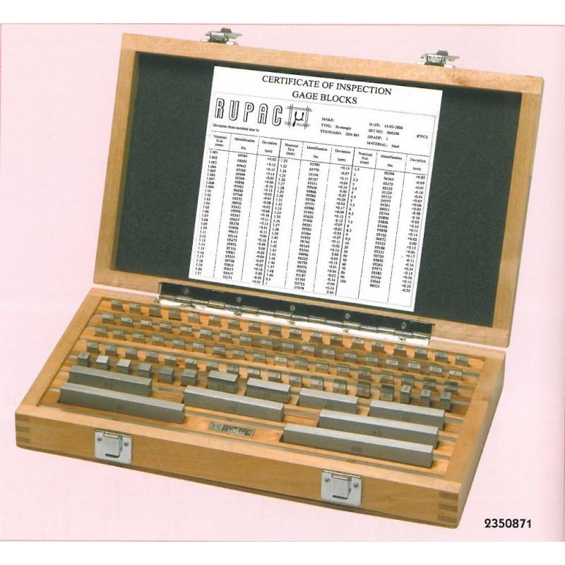 Set blocchetti di riscontro in acciaio  misura da 1,3 a 2,0 mm, Blocchetti di riscontro, rupac | Magnabosco Express - 00102353