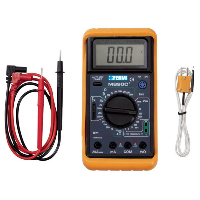 TESTER MULTIMETRO DIGITALE T050, Tester e multimetri, fervi | Magnabosco Express - 00104159