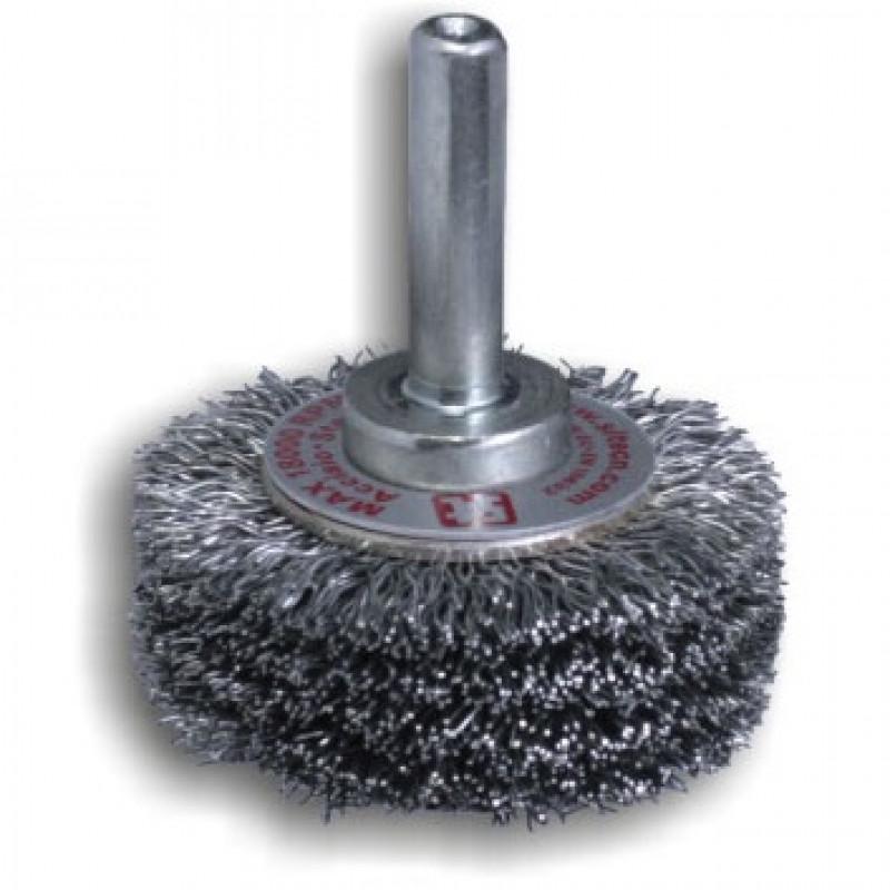 Spazzola circolare con gambo in acciaio GG43 REF851 altez. 1x diametro, Spazzole in acciaio, sit | Magnabosco Express - 00141352