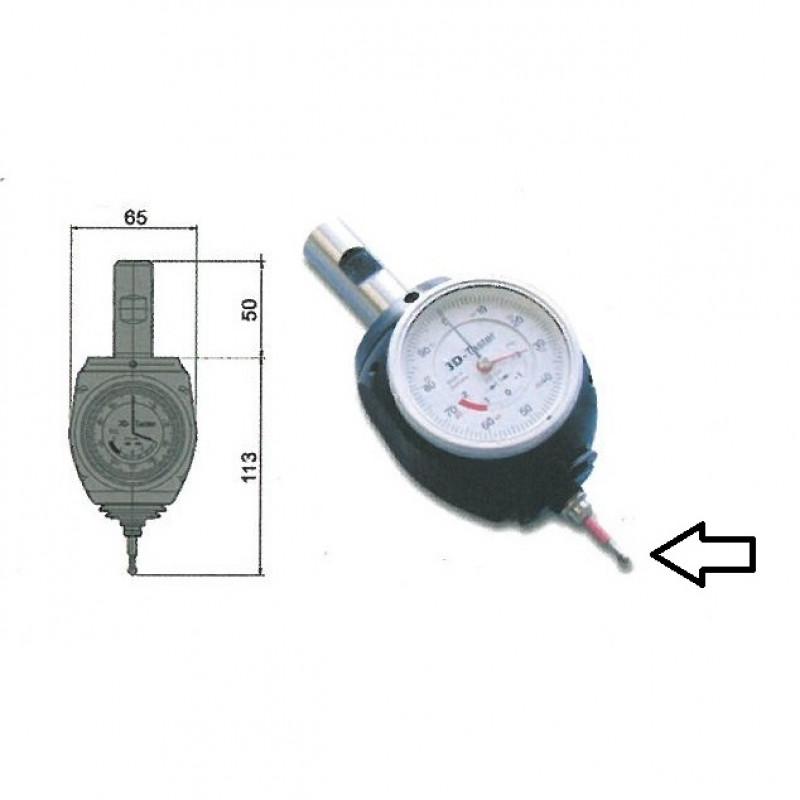 Puntalino per centratore 975.012 diametro 8 lunghezza 69 mm, Apparecchiature varie, vogel | Magnabosco Express - 00142083