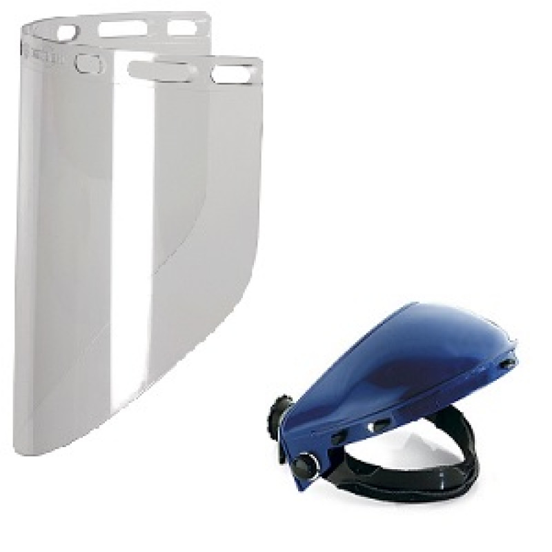 Visiera trasparente con semicalotta, Caschi da lavoro e cuffie antirumore, univet | Magnabosco Express - 00147347
