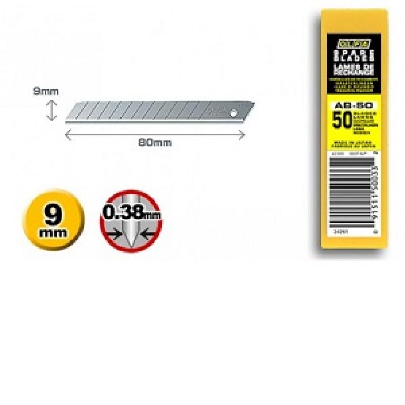 Confezione 50 Lame standard AB-50 per cutter, Cutter e coltelli, olfa | Magnabosco Express - 00166546