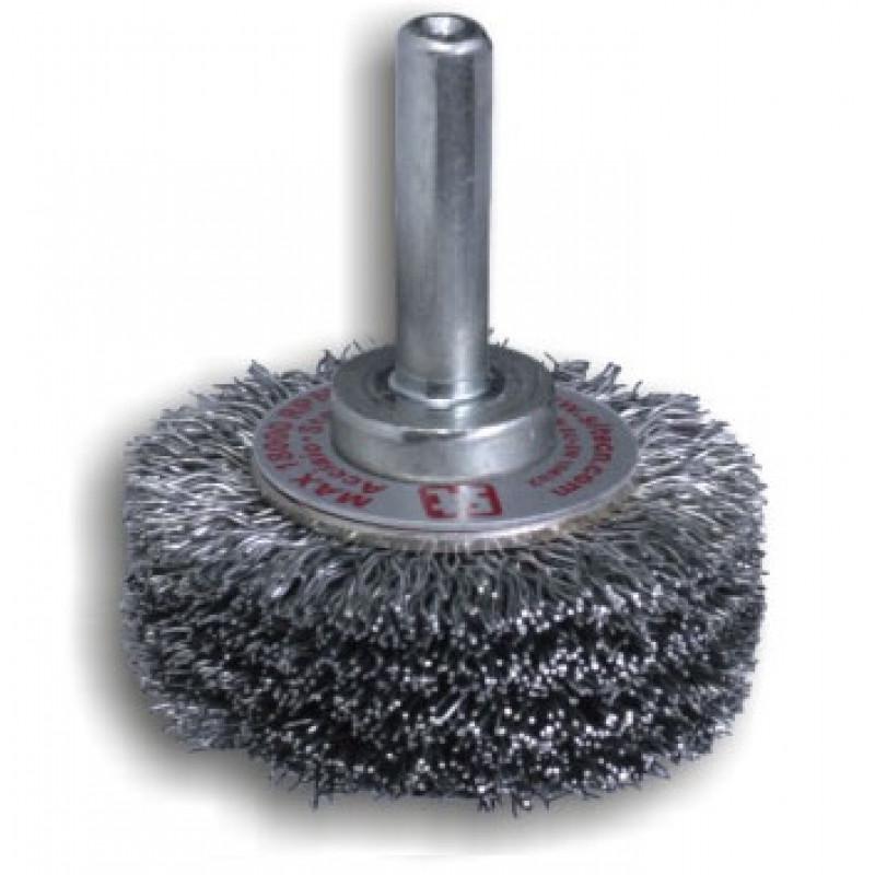 Spazzola circolare in INOX con gambo GG64 REF 972, Spazzole in acciaio, sit | Magnabosco Express - 00166560