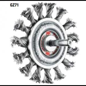 Spazzole circolari con gambo in acciaio GZ71 altezza 1x diam.REF 300