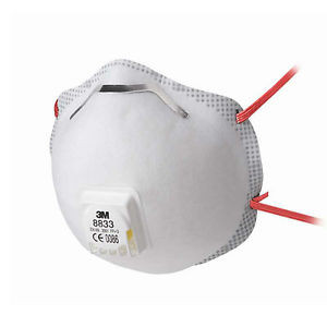 Maschera per polveri, fumi , nebbie 8833 FFP3 con valvola