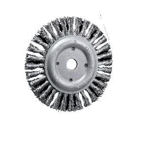 Spazzole circolari in acciaio UZ15altezza 1x diametroREF 515