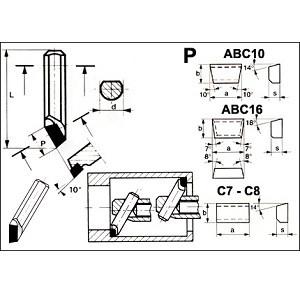 Utensili per tornitura  interna M4