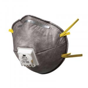 Maschera carboni attivi polveri nebbie 9914 FFP1 con valvola