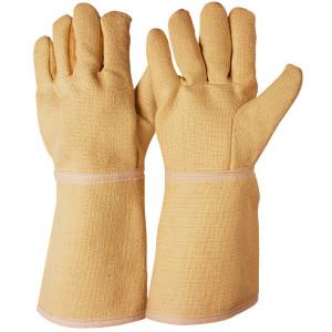 Guanto in tessuto aramidico resistente alle alte temperature.
