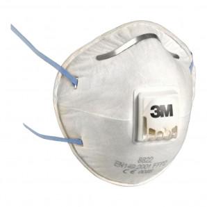 Maschera per polveri fumi nebbie 8822 FFP2 con valvola